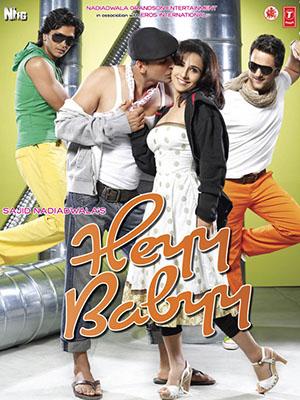 Ba Chàng Vú Em Heyy Babyy.Diễn Viên: Akshay Kumar,Vidya Balan,Fardeen Khan,Ritesh Deshmukh,Boman Irani,Anupam Kher