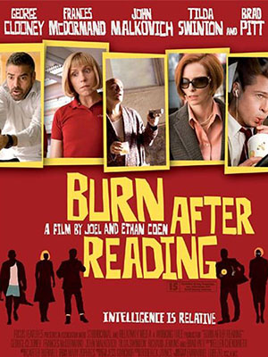 Hủy Sau Khi Đọc Burn After Reading.Diễn Viên: Brad Pitt,Frances Mcdormand,George Clooney,John Malkovich,Tilda Swinton,Richard Jenkins