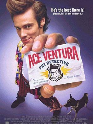 Thám Tử Thú Cưng Ace Ventura: Pet Detective.Diễn Viên: Jim Carrey,Courteney Cox,Sean Young,Tone Loc,Dan Marino,Noble Willingham,Troy Evans