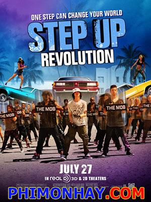 Vũ Điệu Đường Phố 4 Step Up 4: Step Up Revolution.Diễn Viên: Kathryn Mccormick,Ryan Guzman,Stephen Boss