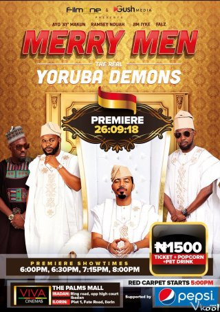 Tứ Đại Gia Merry Men: The Real Yoruba Demons.Diễn Viên: Robin Williams,Lauren Graham,Wendi Mclendon,Covey