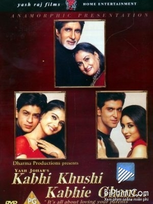 Không Nói Lời Biệt Ly Kabhi Khushi Kabhie Gham.Diễn Viên: Amitabh Bachchan,Jaya Bhaduri,Shah Rukh Khan,Kajol