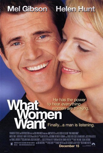 Điều Nàng Muốn What Women Want.Diễn Viên: Mel Gibson,Helen Hunt,Delta Burke,Marisa Tomei,Alan Alda,Ashley Johnson