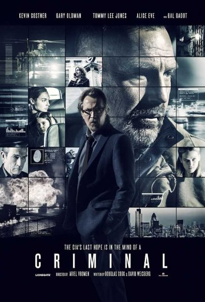 Tội Phạm Criminal.Diễn Viên: Kevin Costner,Ryan Reynolds,Gal Gadot