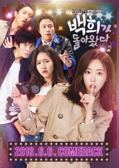 Baek Hee Trở Lại Baek Hee Has Returned.Diễn Viên: Kang Ye Won,Kim Sung Oh,Choi Phillip,Jin Ji Hee,In Gyo Jin