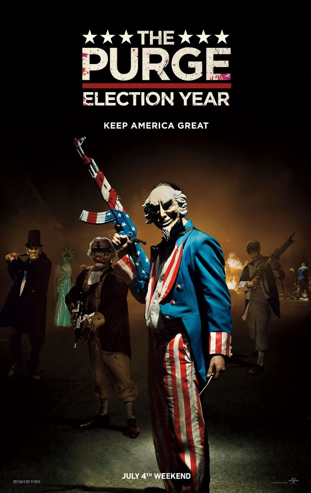 Sự Thanh Trừng: Năm Bầu Cử The Purge: Election Year.Diễn Viên: Frank Grillo,Elizabeth Mitchell,Mykelti Williamson