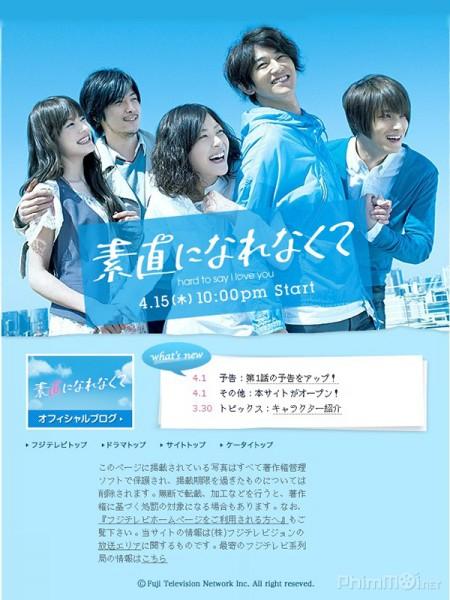 Khó Nói Lời Yêu Hard To Say I Love You: Sunao Ni Narenakute.Diễn Viên: Tomoya Nagase,Ryûnosuke Kamiki,Yoshiyoshi Arakawa