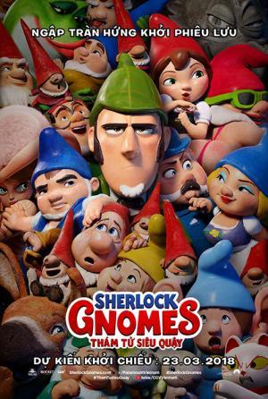 Thám Tử Siêu Quậy Sherlock Gnomes.Diễn Viên: Emily Blunt,Kelly Asbury,Mary J Blige