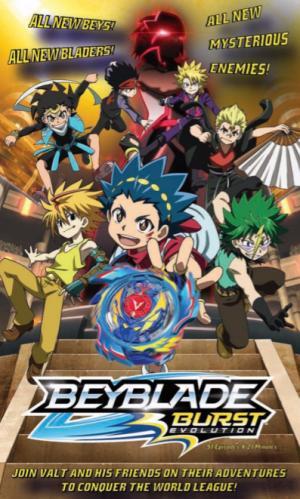 Vòng Quay Siêu Tốc Beyblade Burst Evolution.Diễn Viên: Marina Inoue,Ryoko Shiraishi,Takuma Terashina
