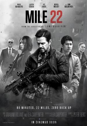 Mốc 22 Mile 22.Diễn Viên: Mark Wahlberg,Iko Uwais,Lauren Cohan