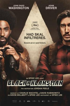Băng Đảng 3K Blackkklansman.Diễn Viên: Adam Driver,John David Washington,Laura Harrier