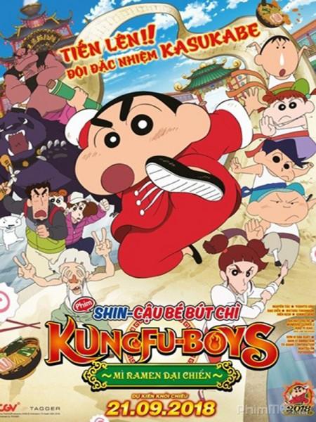 Câu Bé Bút Chì: Kung Fu Boys - Mì Ramen Dai Chiên - Crayon Shin-Chan: Burst Serving! Kung Fu Boys - Ramen Rebellion Thuyết Minh (2018)