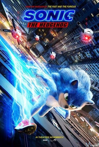 Tiểu Quái Sonic Sonic The Hedgehog.Diễn Viên: James Marsden,Jim Carrey,Neal Mcdonough