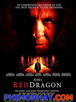 Rồng Đỏ Red Dragon.Diễn Viên: Anthony Hopkins,Edward Norton,Ralph Fiennes