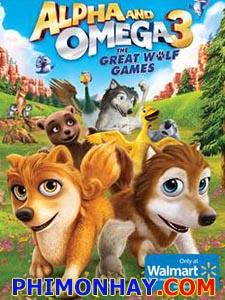 Thủ Lĩnh Sói Xám 3: Cuộc Chơi Của Loài Sói Alpha And Omega 3: The Great Wolf Games.Diễn Viên: Ben Diskin,Kate Higgins,Lindsay Torrance