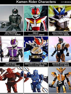 Kamen Rider Den O Kamen Rider Series 17.Diễn Viên: Shotaro Hidari,Akiko Narumi,Mikio Jinno