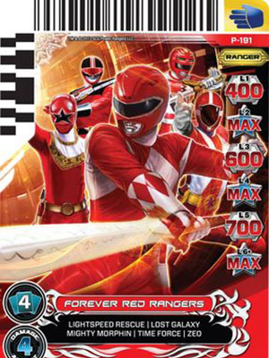 Power Rangers 20Th Anniversary Forever Red.Diễn Viên: Amy Jo Johnson,Jason David Frank,David Yost