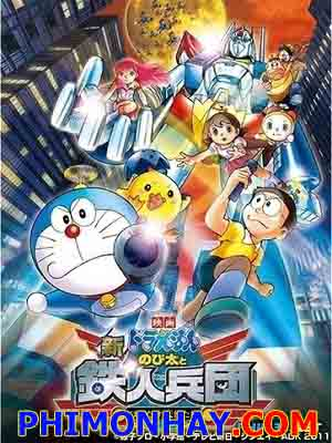 Tân Nobita Và Binh Đoàn Người Sắt Đôi Cánh Thiên Thần Doraemon: Nobita And The New Steel Troops - Winged Angels.Diễn Viên: Laci J Mailey,Terry Chen,Alain Chanoine
