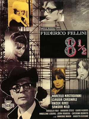 Tám Một Phần Hai Eight And A Half.Diễn Viên: Marcello Mastroianni,Anouk Aimée And Claudia Cardinale