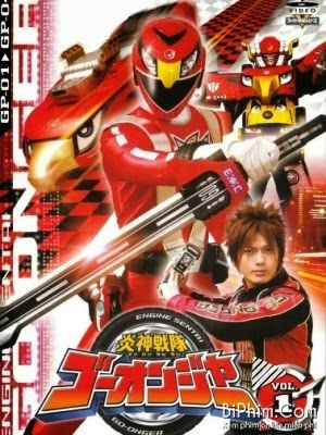 Siêu Nhân Cơ Động Engine Sentai Go Onger.Diễn Viên: Yasuhisa Furuhara,Shinwa Kataoka,Rina Aizawa,Masahiro Usui