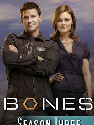 Hài Cốt Phần 3 Bones Season 3.Diễn Viên: Emily Deschanel,David Boreanaz,Michaela Conlin