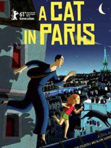 Cuộc Sống Của Mèo A Cat In Paris.Diễn Viên: Dominique Blanc,Bernadette Lafont And Bruno Salomone