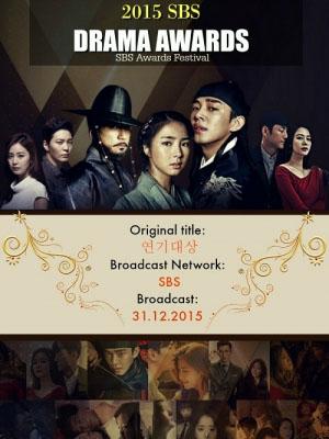 Lễ Trao Giải Sbs 2015 Sbs Drama Awards.Diễn Viên: Joo Won,Yoo Jun Sang,Choi Myung Gil,Park Yoo Chun